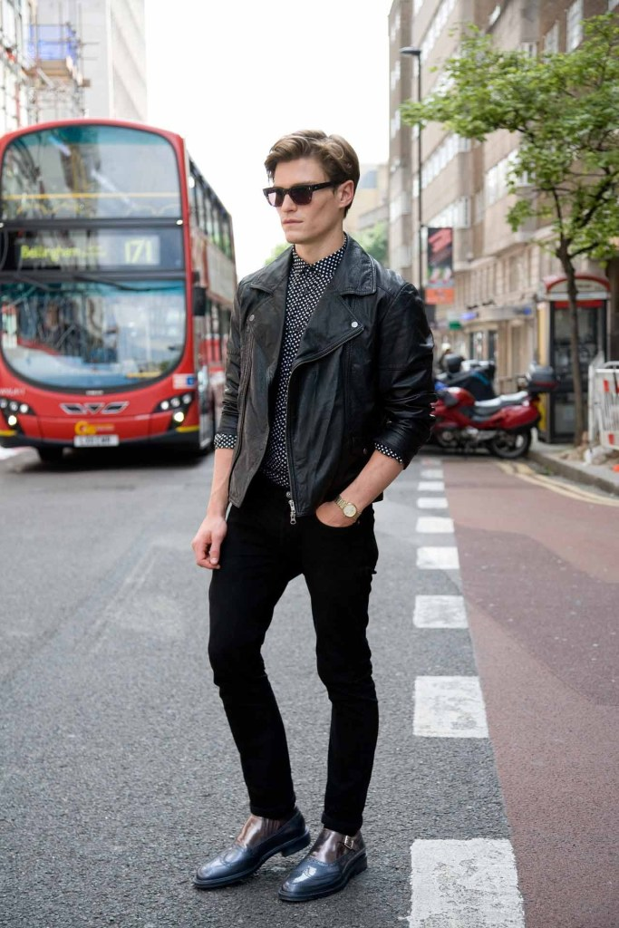 street-style-men-leather-jacket