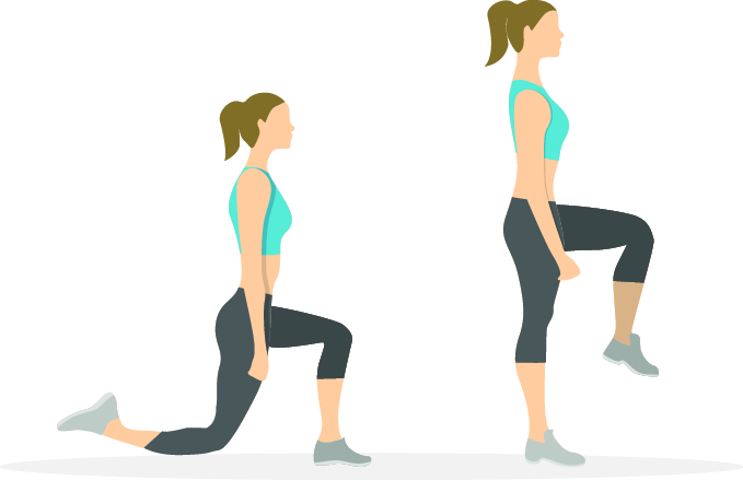 Workout-lunge