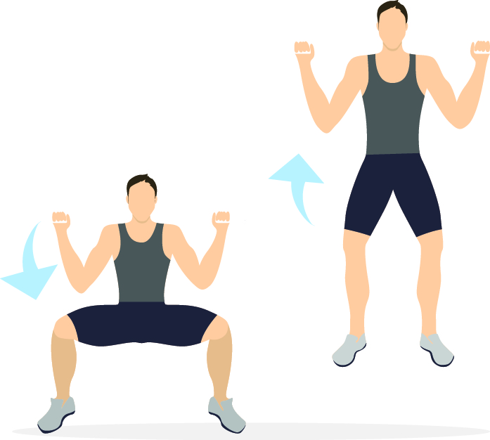 Workout-squat jump